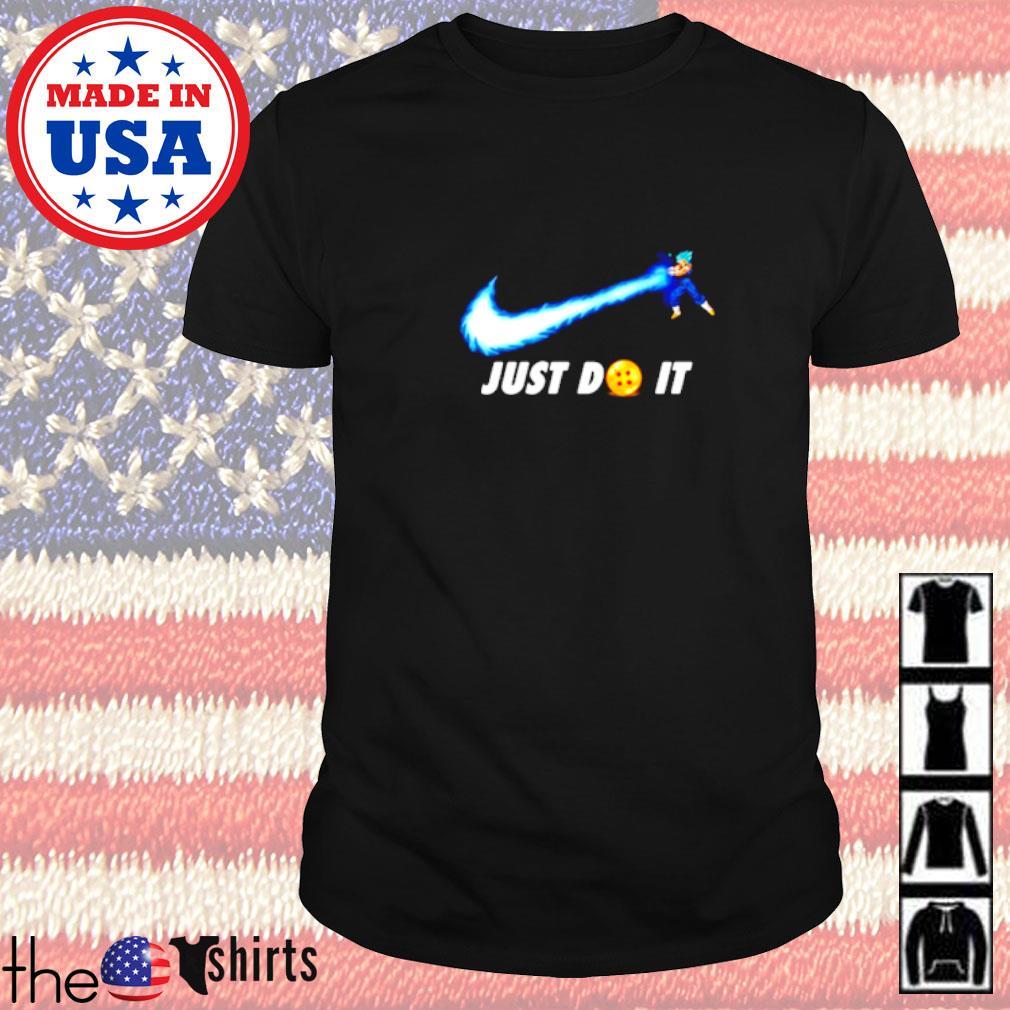 Songoku Kamehameha Nike just do it shirt