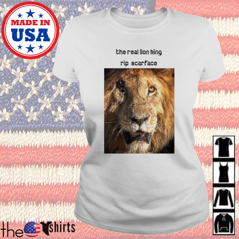 The real Lion King rip scarface Ladies tee