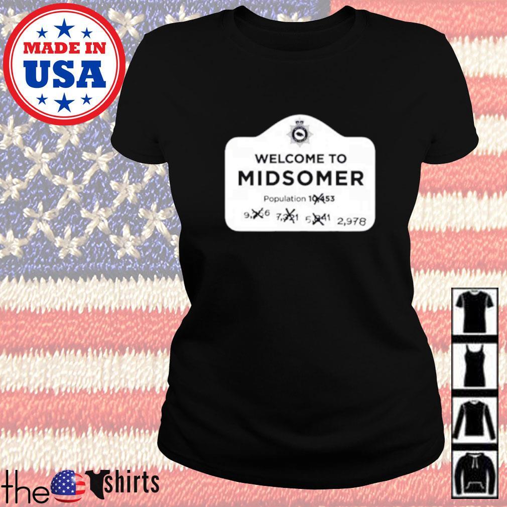 Welcometo midsomer population Ladies tee