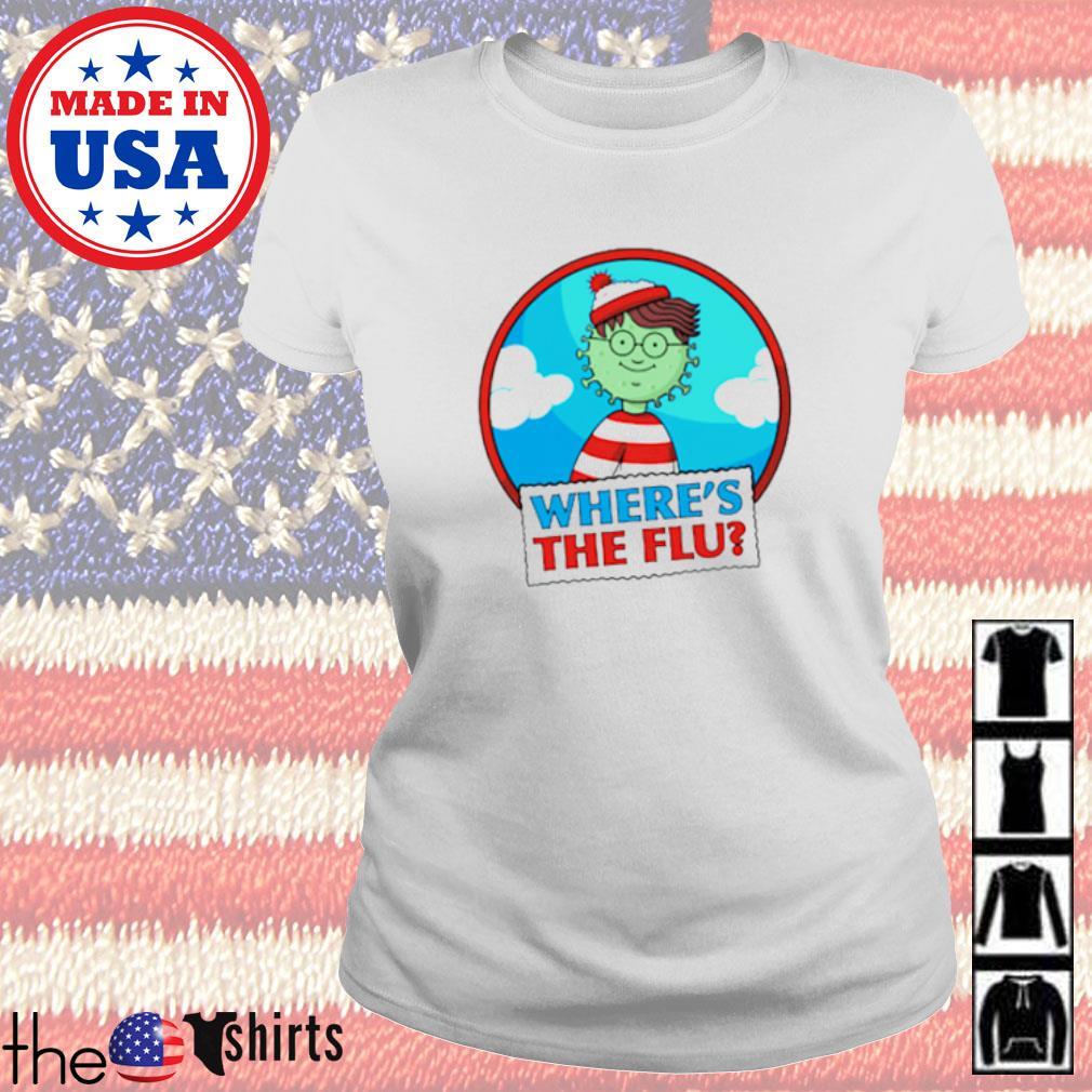 Where's Wally where's the flu Ladies tee