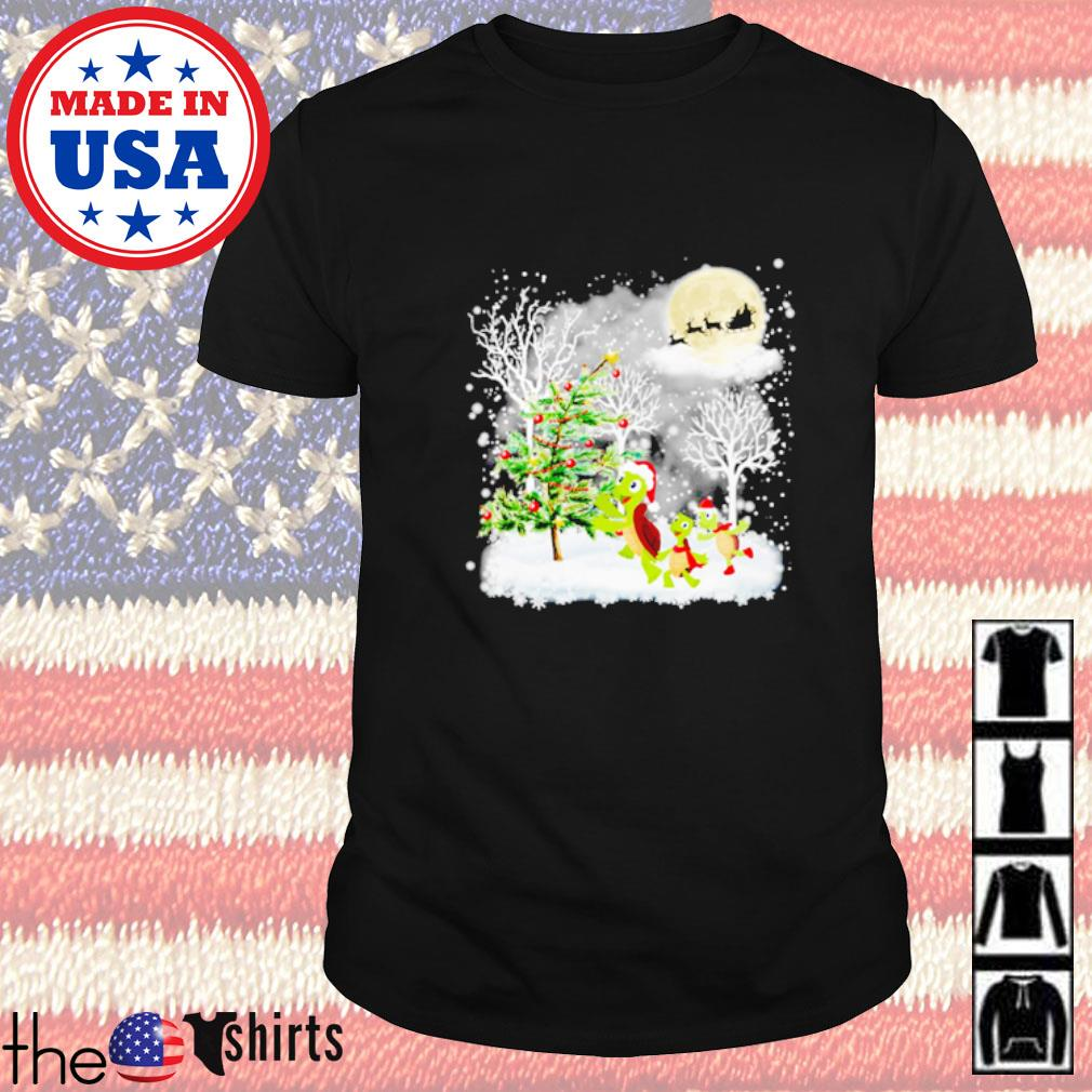 Turtle Christmas tree decoration shirt