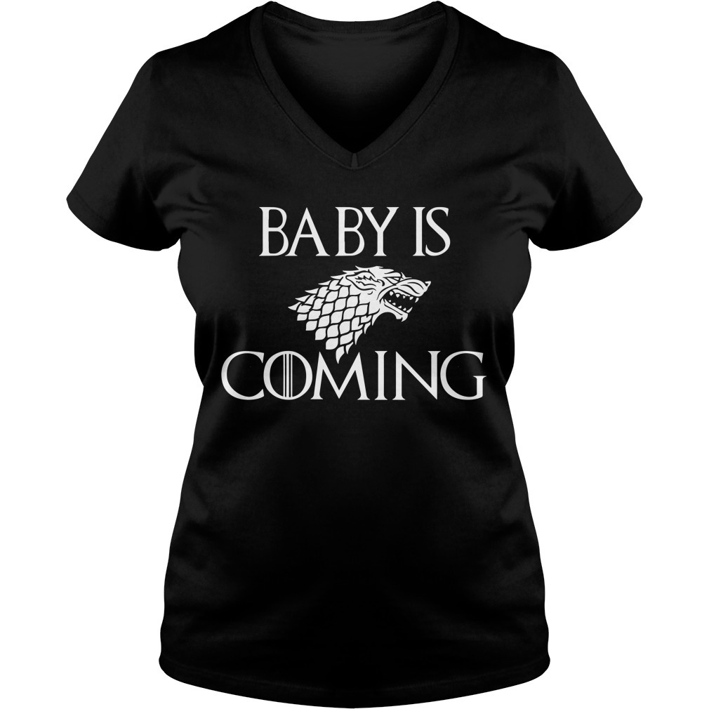 Baby is coming game of Thrones V-neck T-shirt