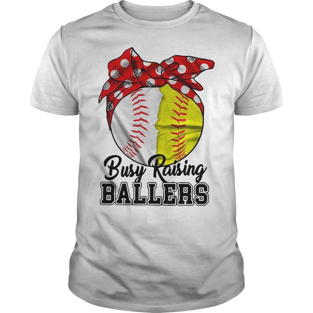 Busy raising ballers softball mom red Bandana