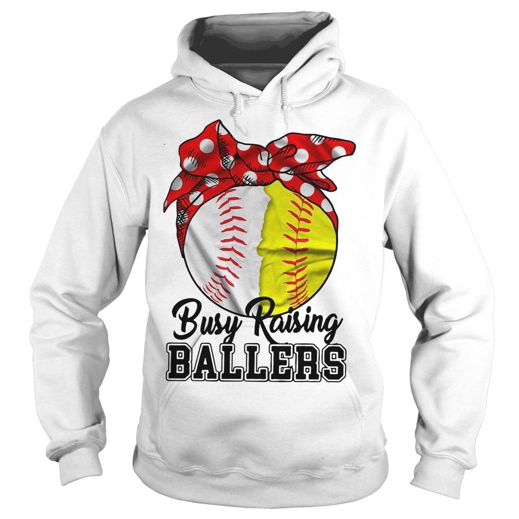 Busy raising ballers softball mom red Bandana Hoodie