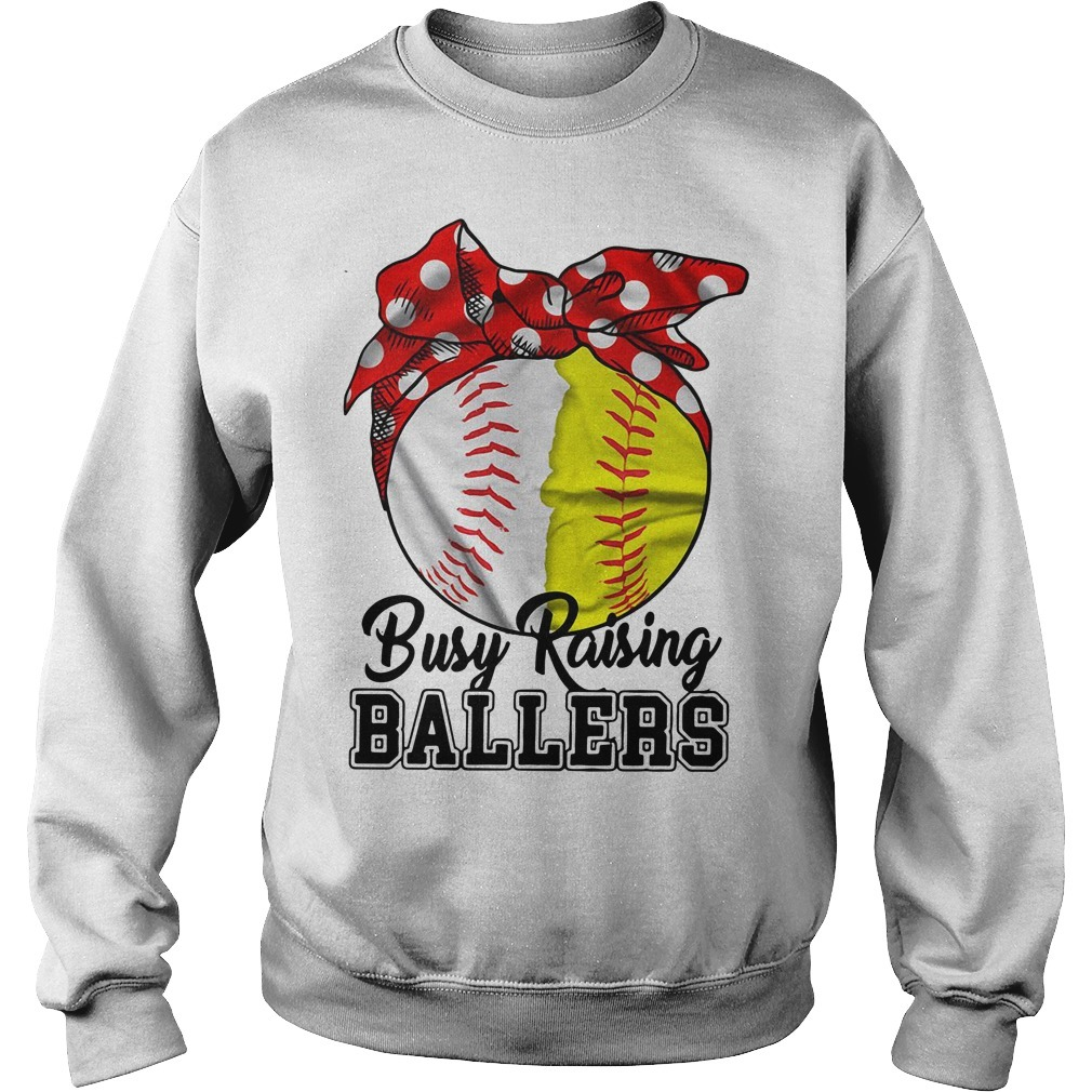 Busy raising ballers softball mom red Bandana Sweater