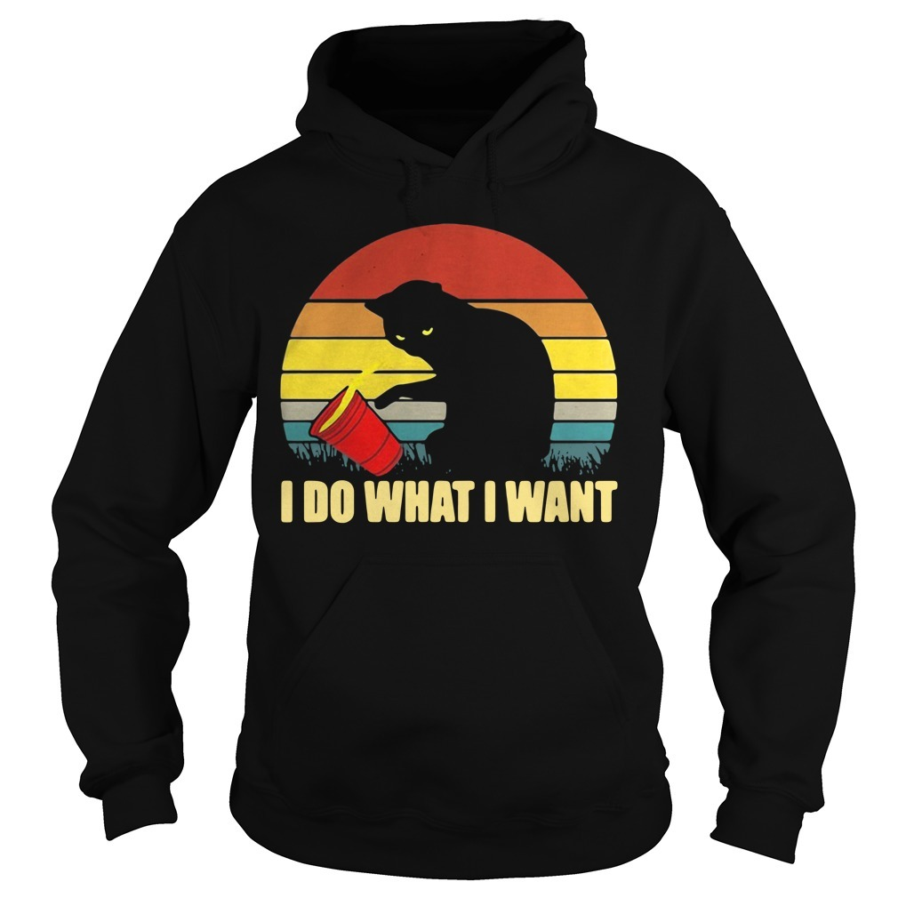 Cat kitten I do what I want vintage retro Hoodie