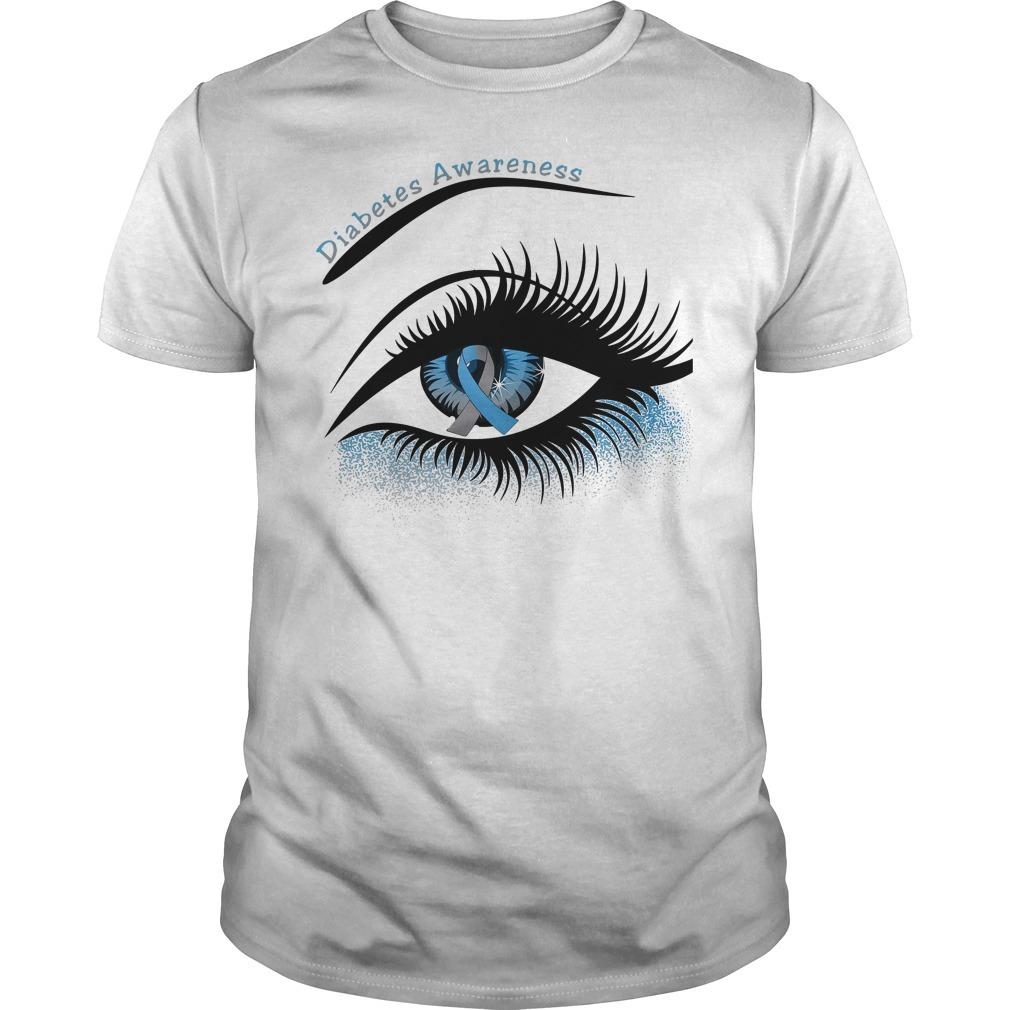 Diabetes awareness and cancer awareness in the eye Guys shirt