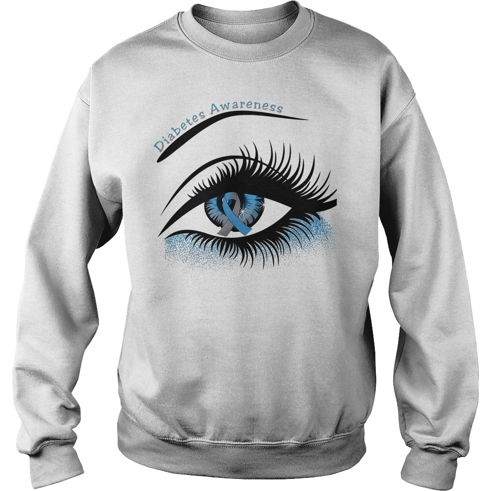Diabetes awareness and cancer awareness in the eye Sweater