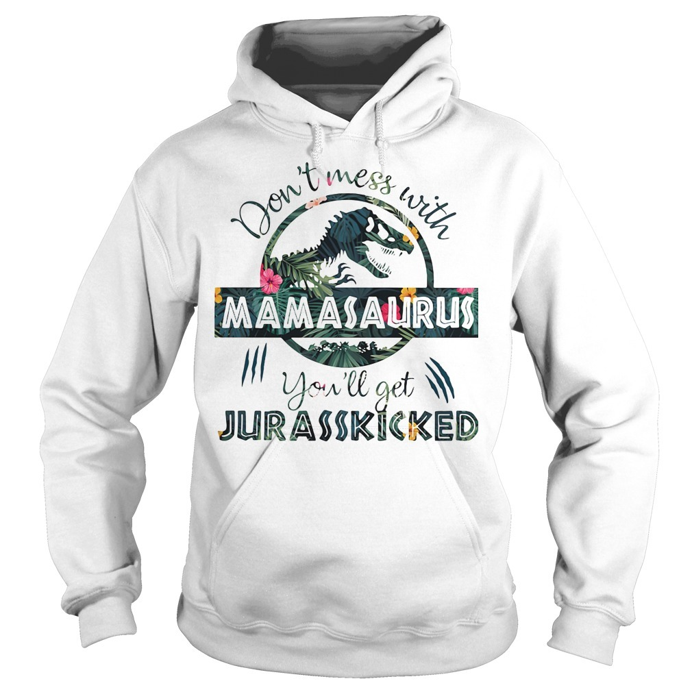 Don't mess with Mamasaurus you'll get Jurasskicked Hoodie