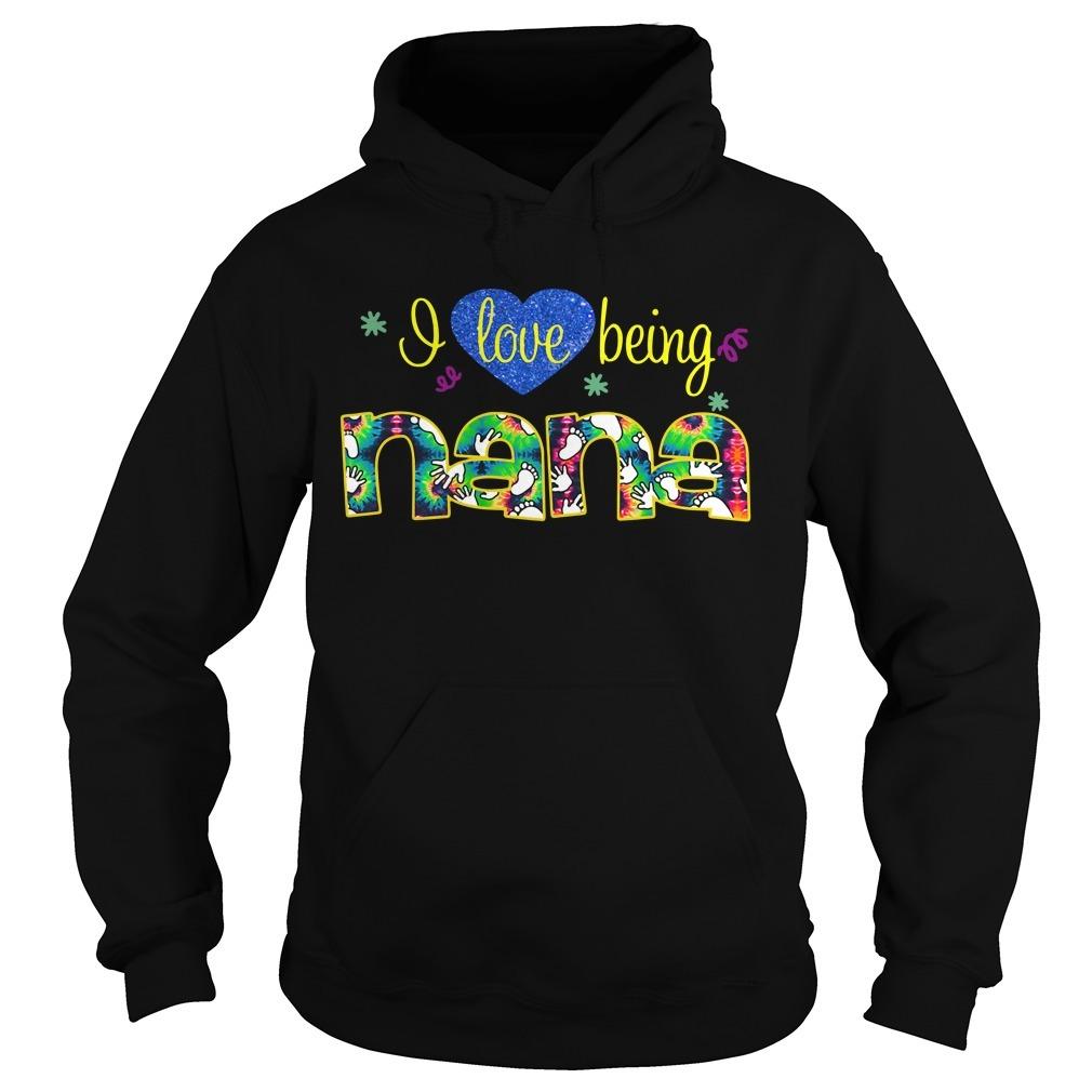 Heart I love being Nana Hoodie