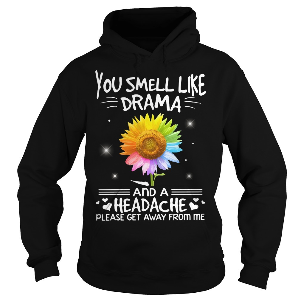 LGBT you smell like drama and a headache please get away from me sunflower Hoodie
