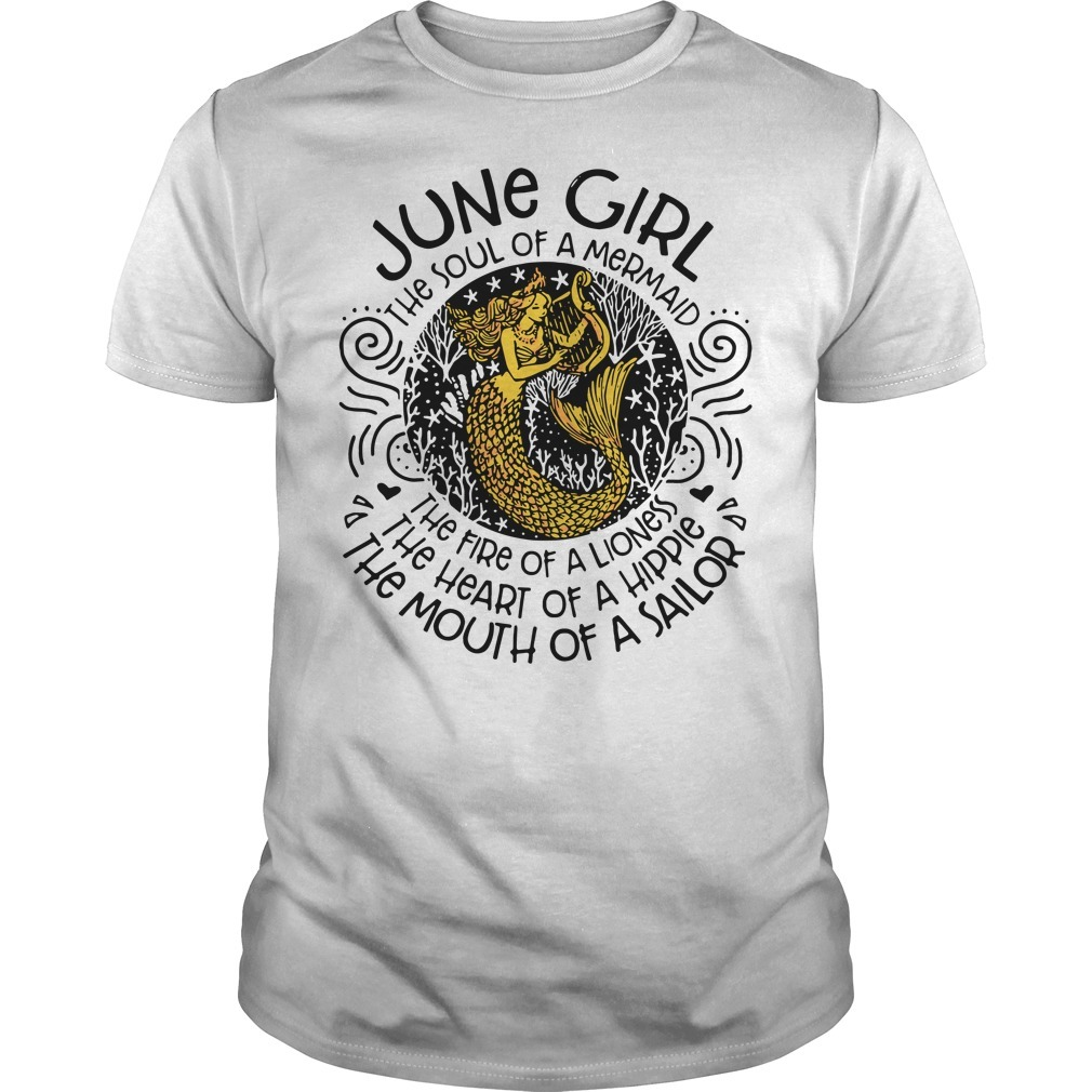 Mermaid with harp July woman the soul of mermaid the fire of a lioness Guys shirt