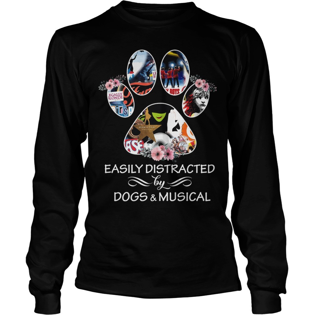 Paw easily distracted by dogs and musical Longsleeve Tee