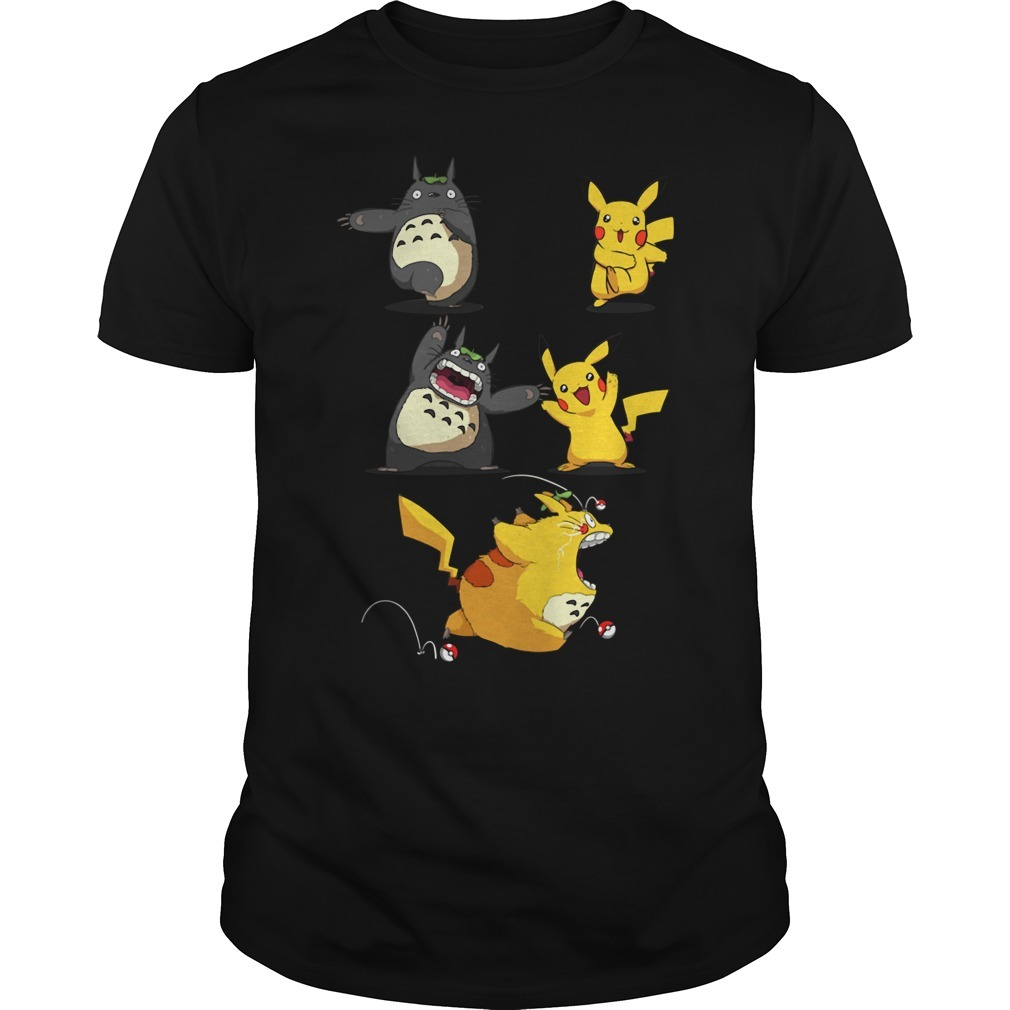 Pikachu fusion Totoro became Totochu or Pikaro Guys shirt