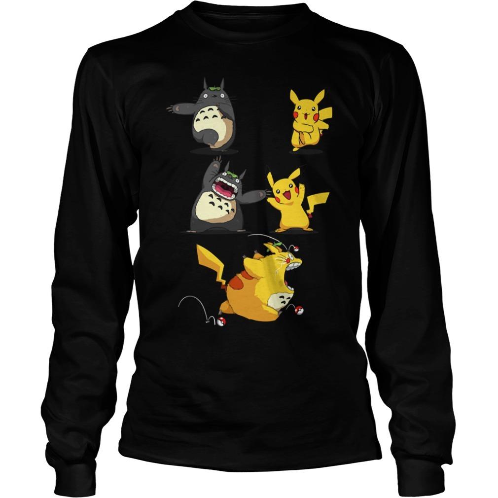Pikachu fusion Totoro became Totochu or Pikaro Longsleeve Tee