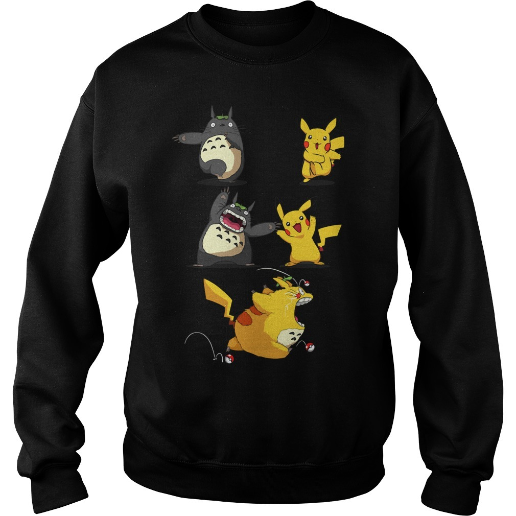 Pikachu fusion Totoro became Totochu or Pikaro Sweater