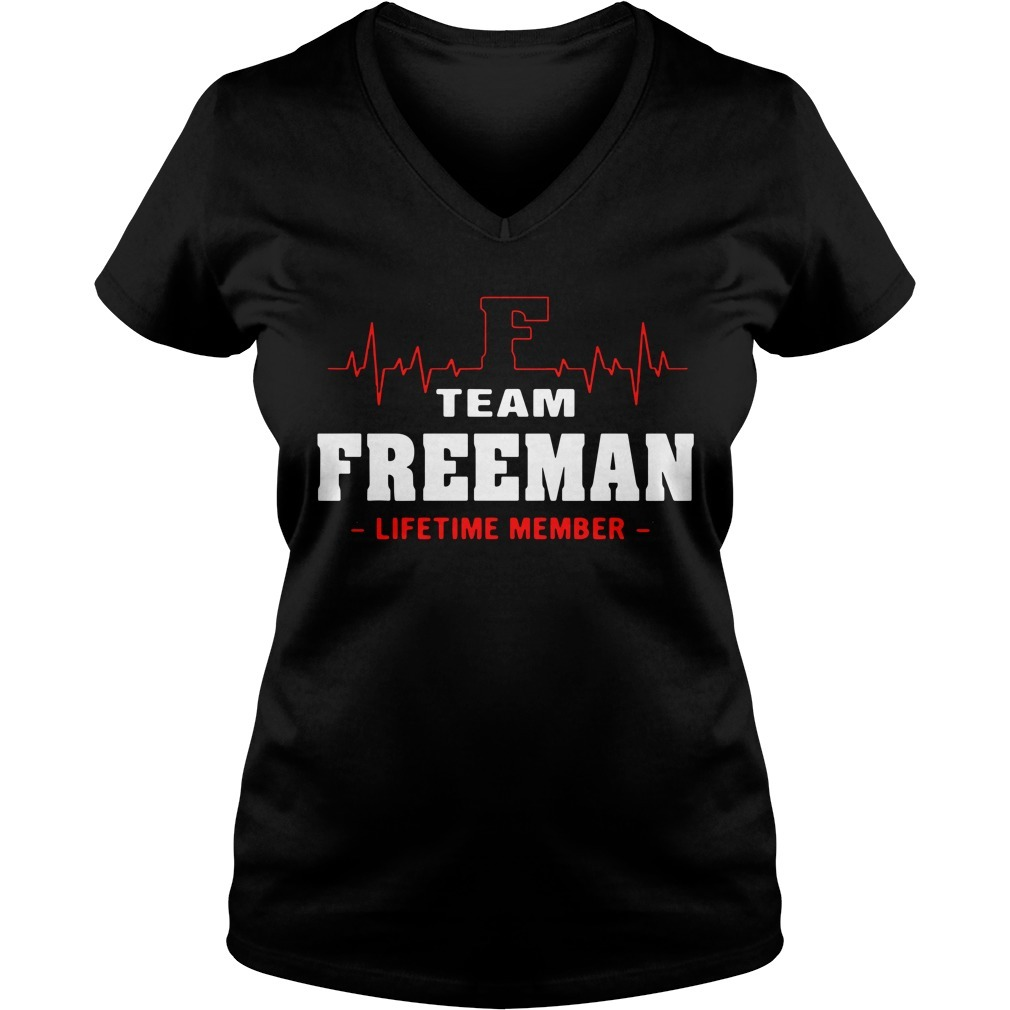 Team Freeman lifetime member V-neck T-shirt
