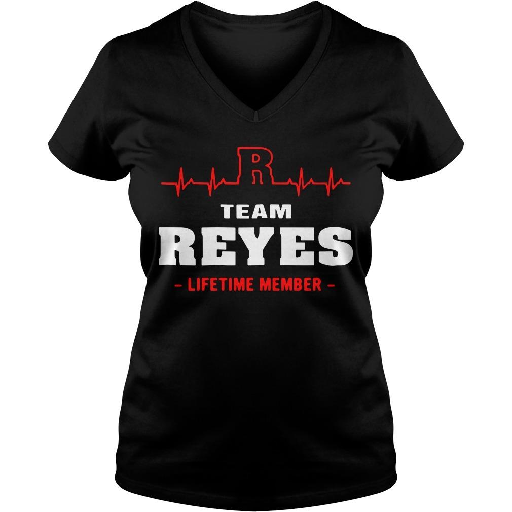 Team Reyes lifetime member V-neck T-shirt