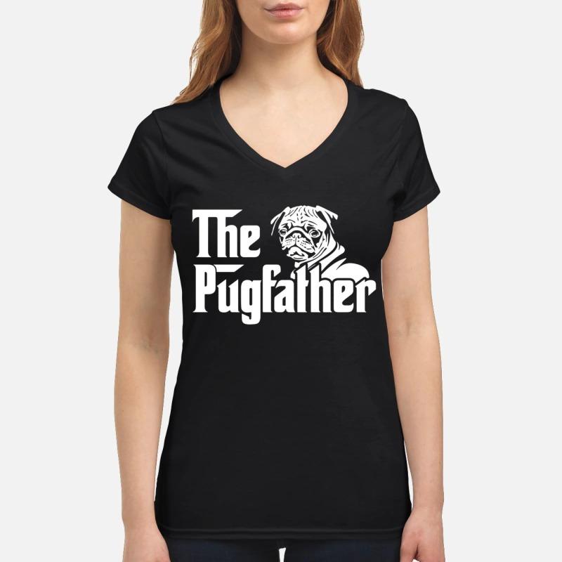 The pugfather V-neck T-shirt