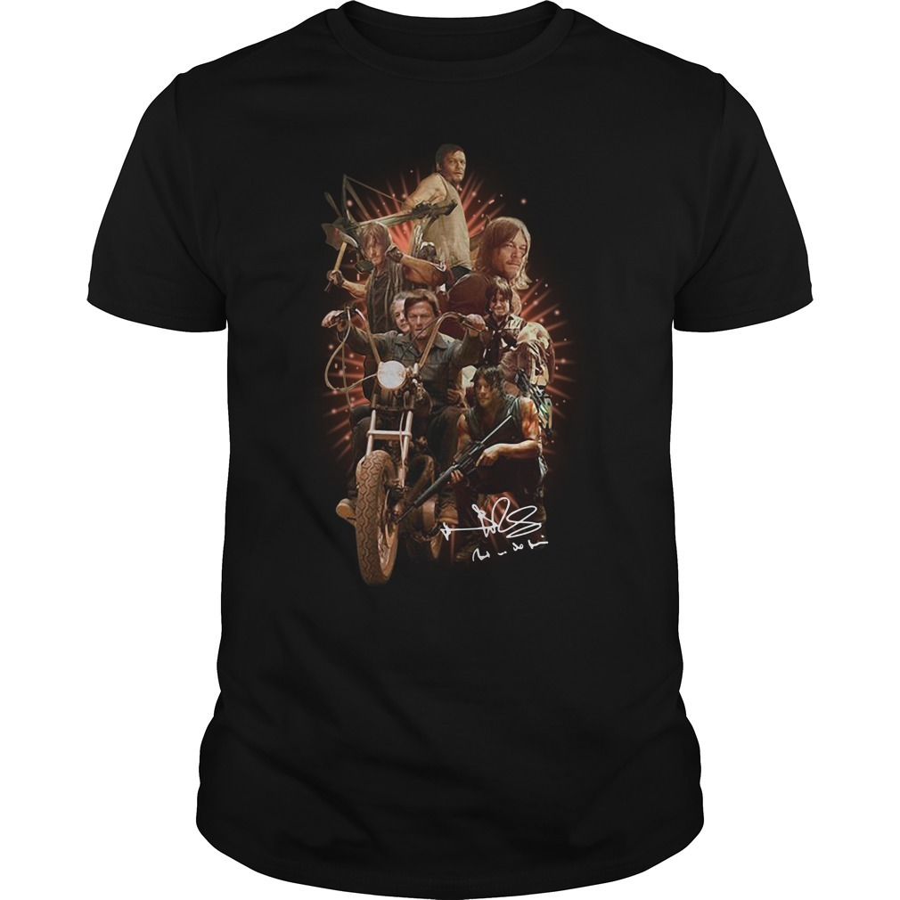 The walking dead Daryl Dixon signature Guys shirt