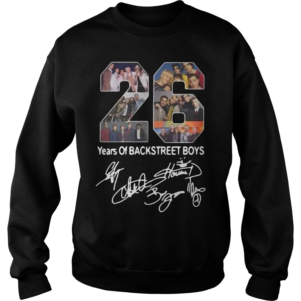 26 years of Backstreet boys all signatures Sweater