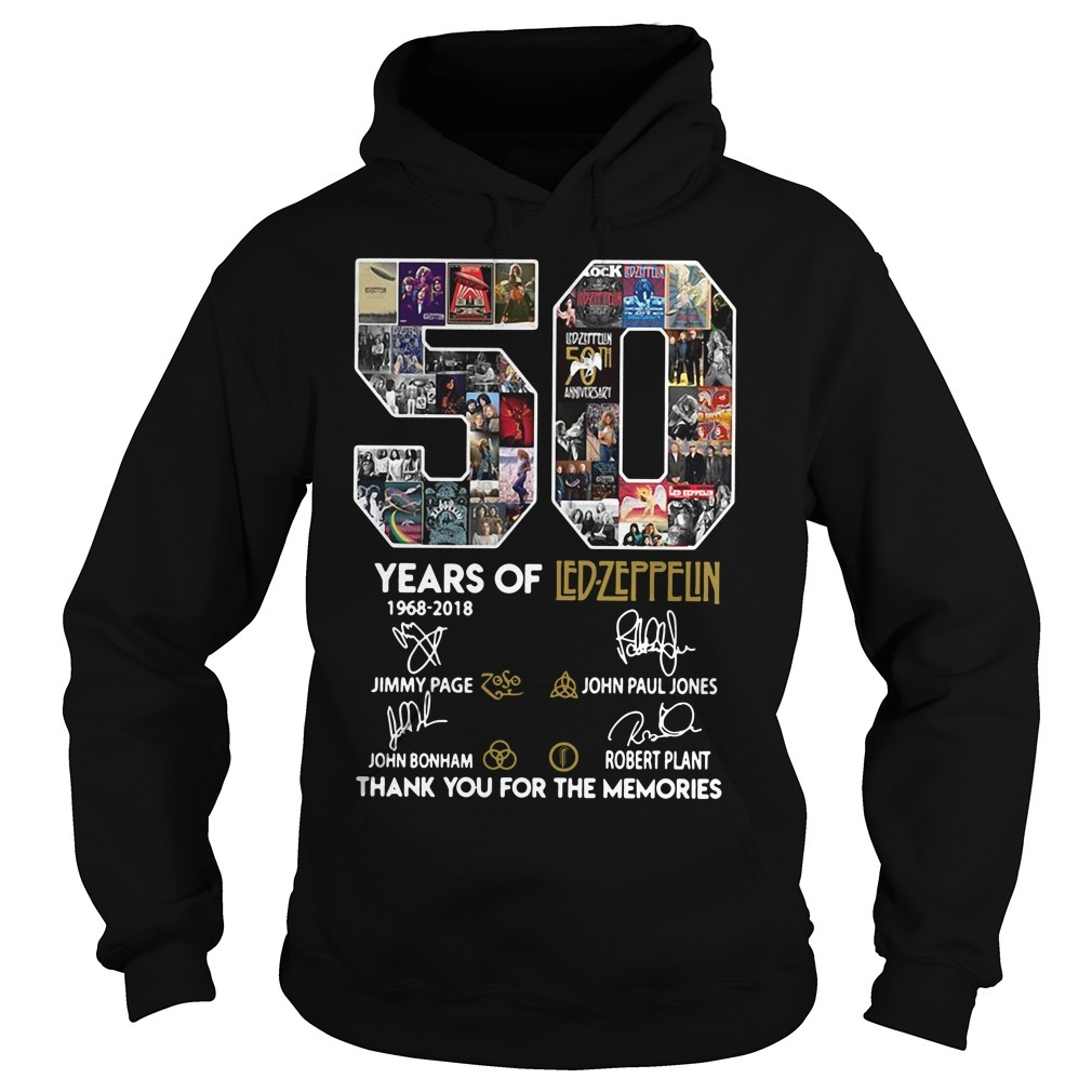 50 Years of Led-Zeppelin 1968-2018 signature Hoodie