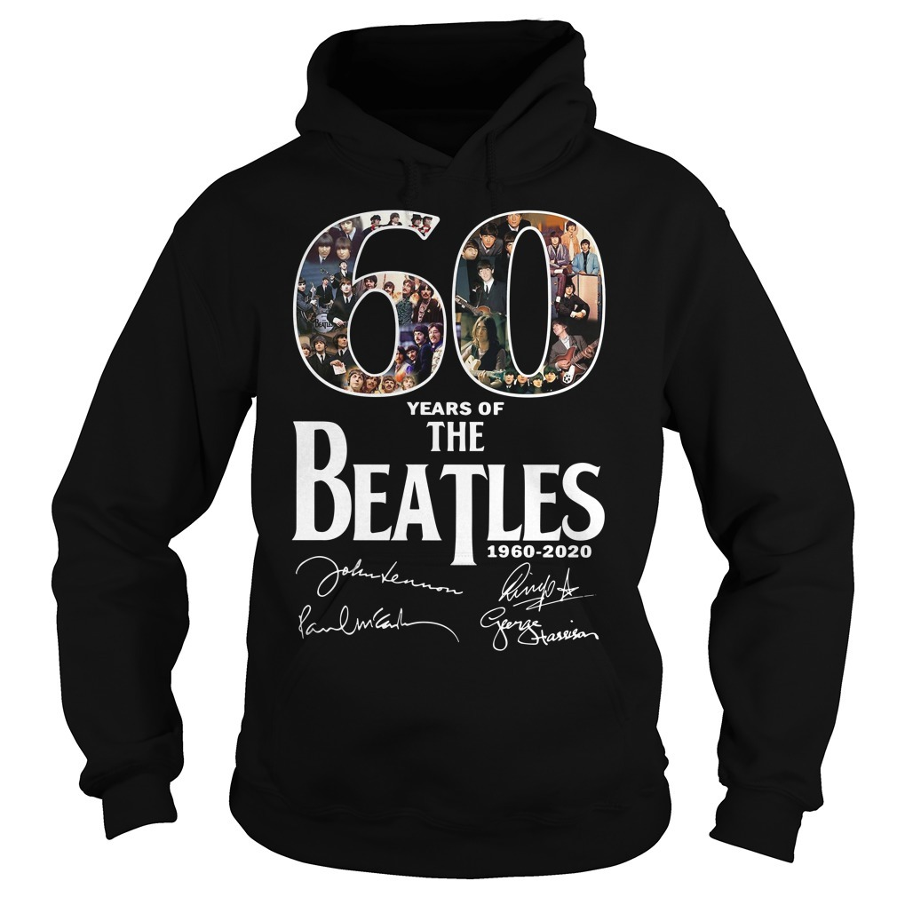 60 Years of the Beatles 1960-2020 signature Hoodie