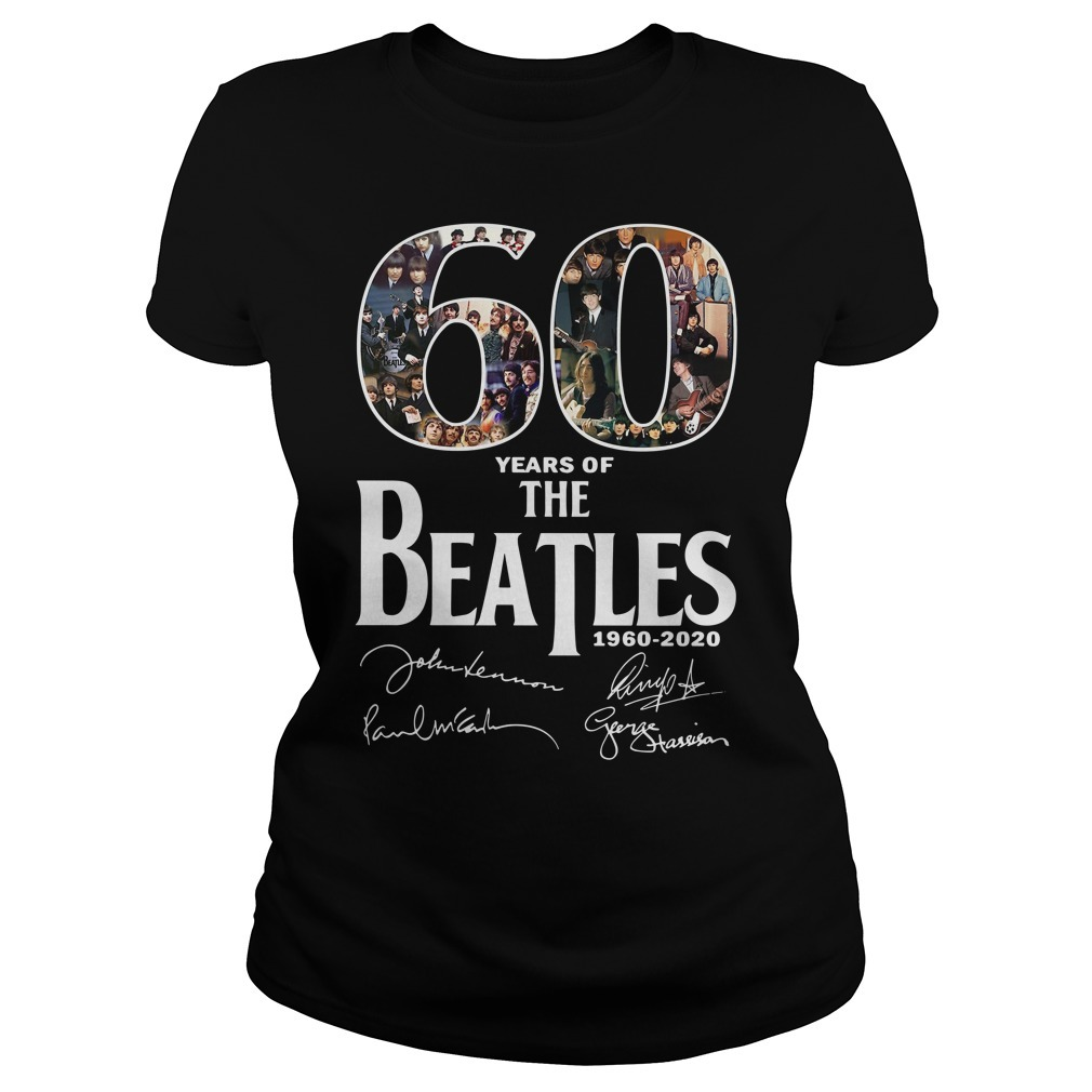 60 Years of the Beatles 1960-2020 signature Ladies Tee