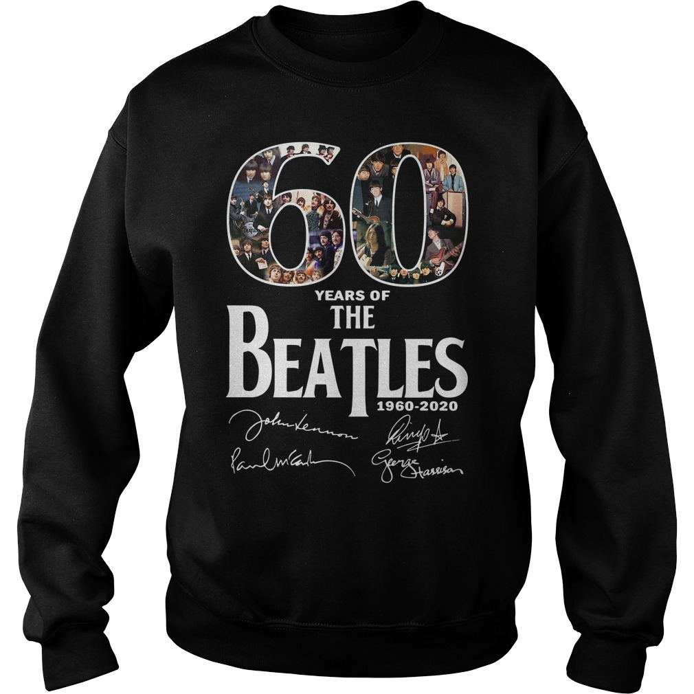 60 Years of the Beatles 1960-2020 signature Sweater