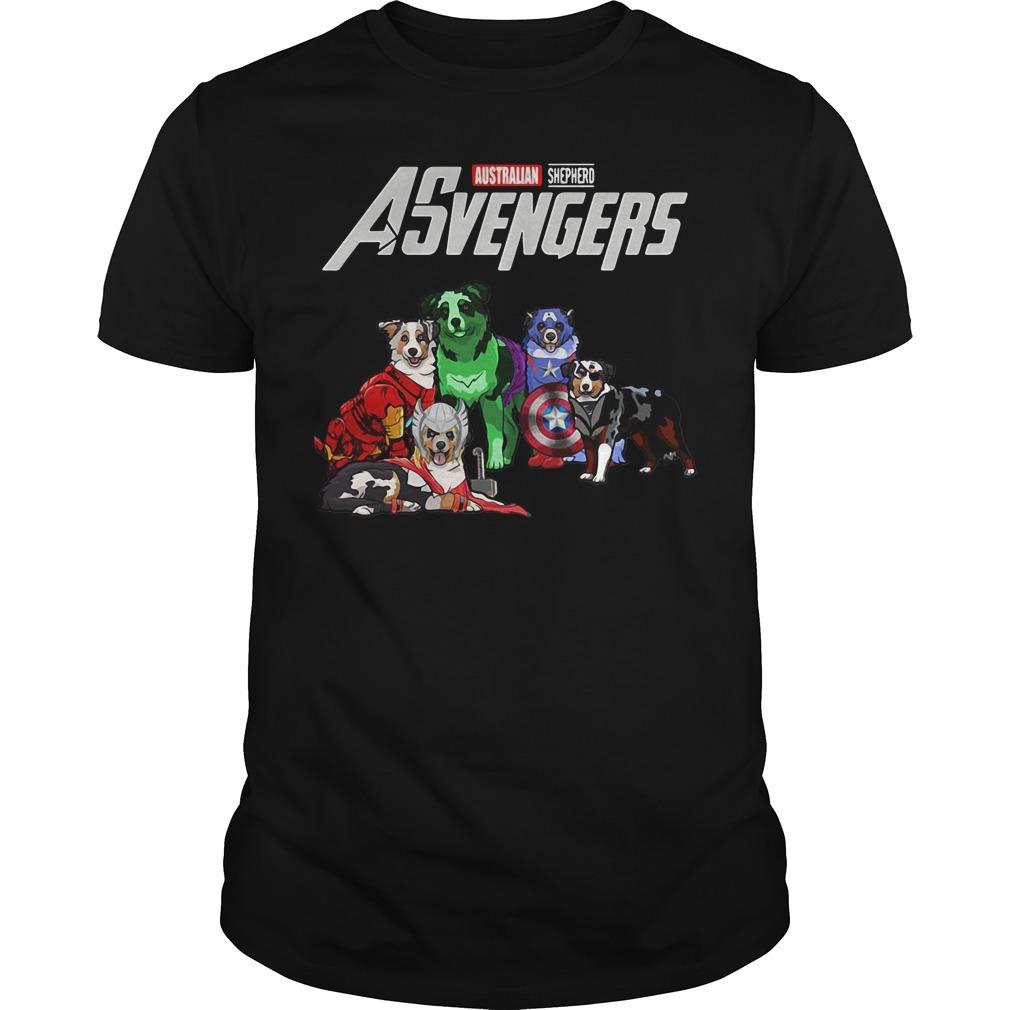 Asvengers Australian shepherd dog Guys shirt
