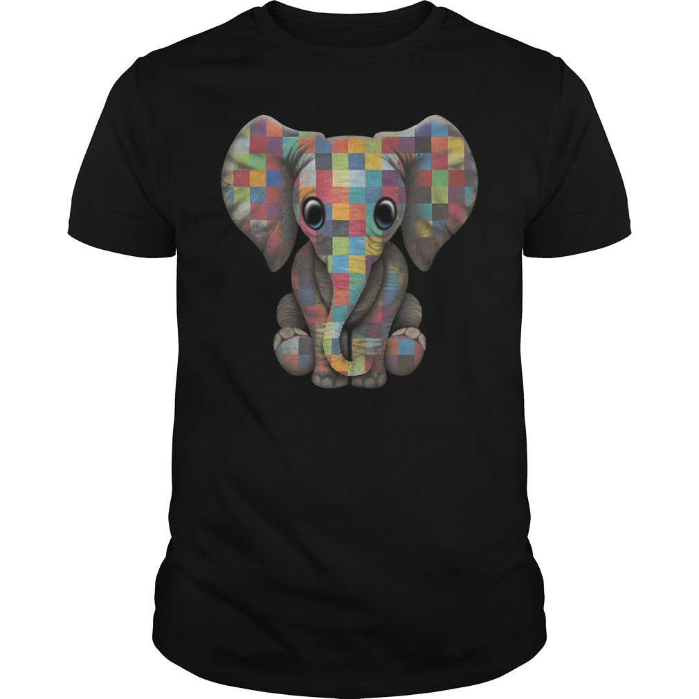 Autism elephant Guys shirt