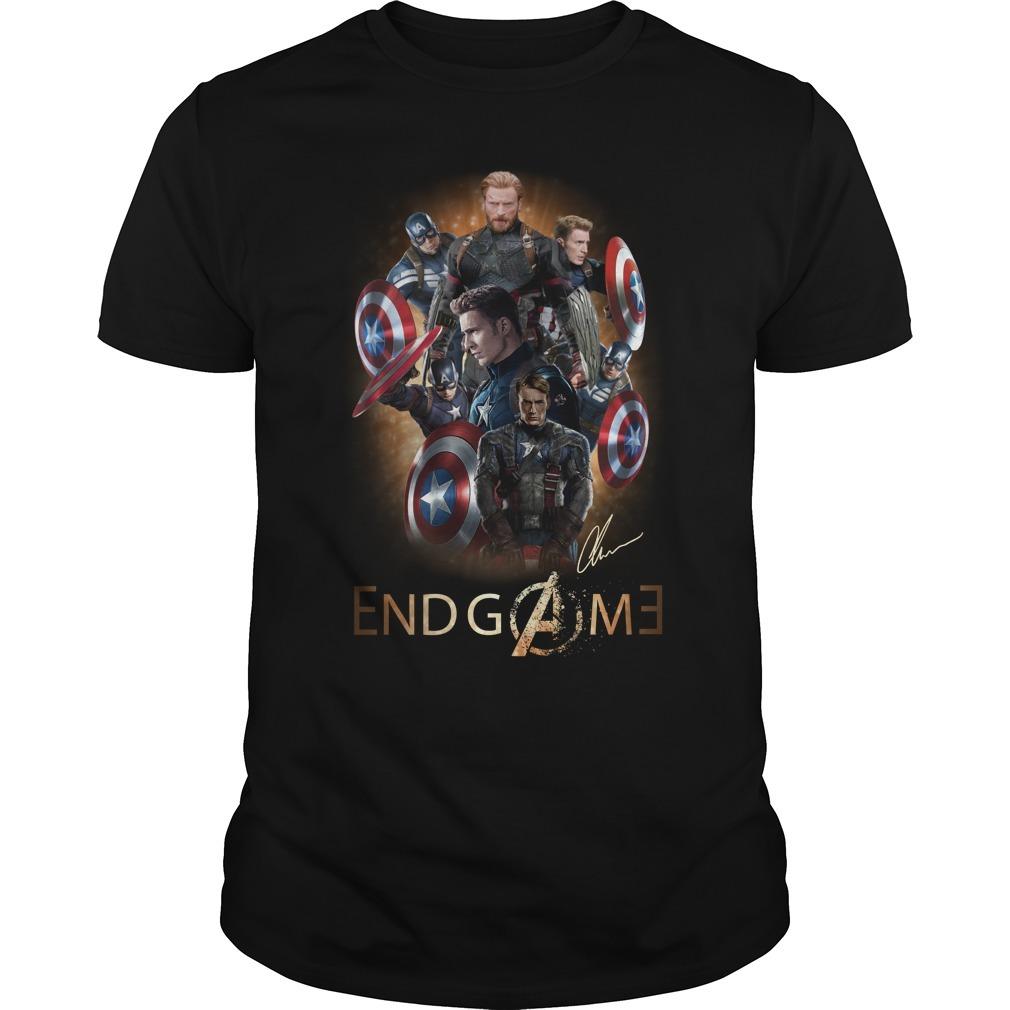Avengers endgame Chris Evans signature Guys shirt