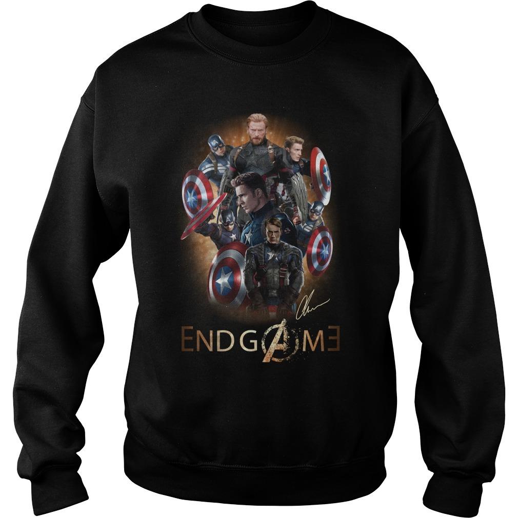 Avengers endgame Chris Evans signature Sweater