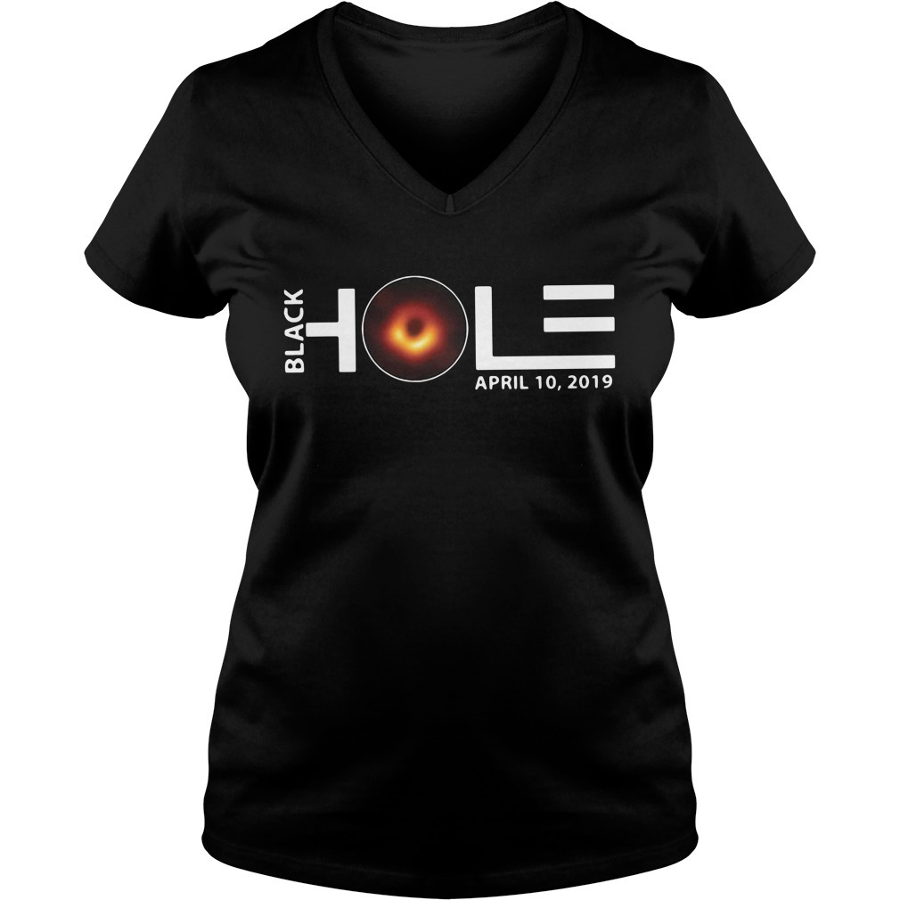 Black hole April 10 2019 V-neck T-shirt