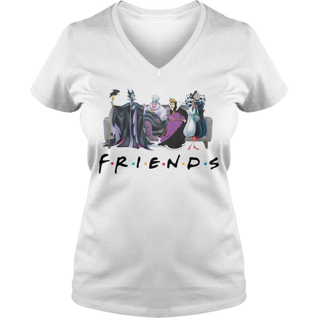 Disney Queens friends Cruella De Vil evil Queen Ursula maleficent V-neck T-shirt