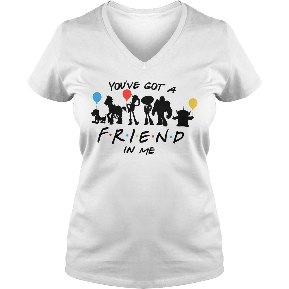 Disney Toy story and friends you've got a friend in me V-neck T-shirt