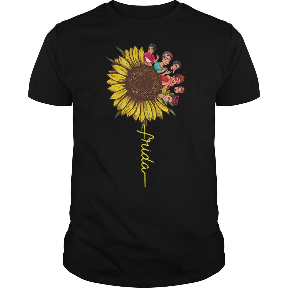 Frida Kahlo sunflower Guys shirt