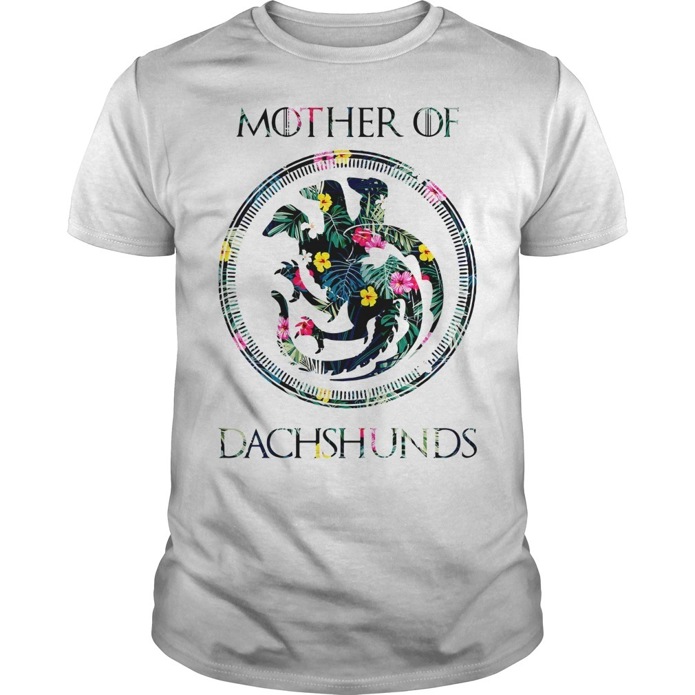 Game of Thrones mother of Dachshunds green flower Guys shirt