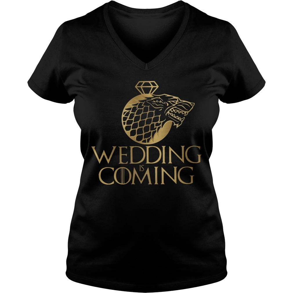 Game of Thrones Wedding is coming V-neck T-shirt