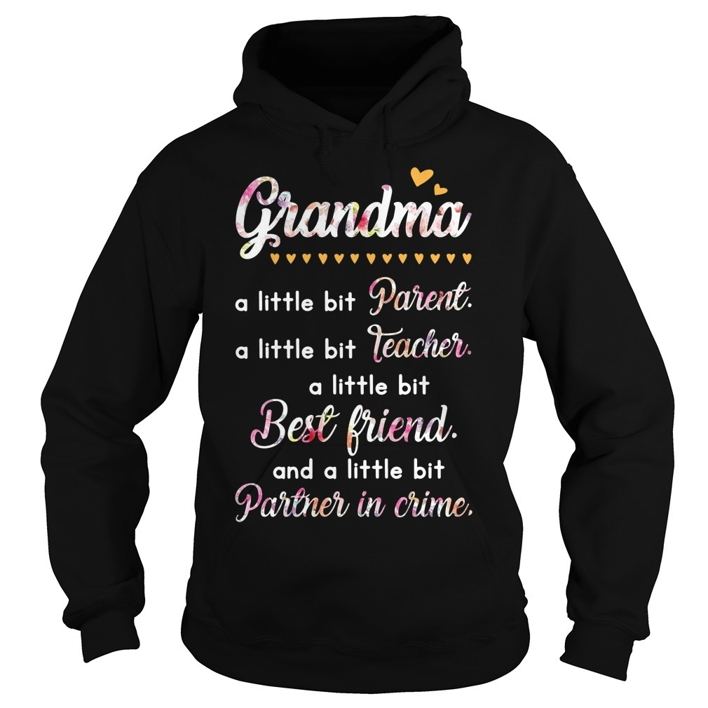 Grandma a little bit parents a little bit teacher a little bit best friend Hoodie