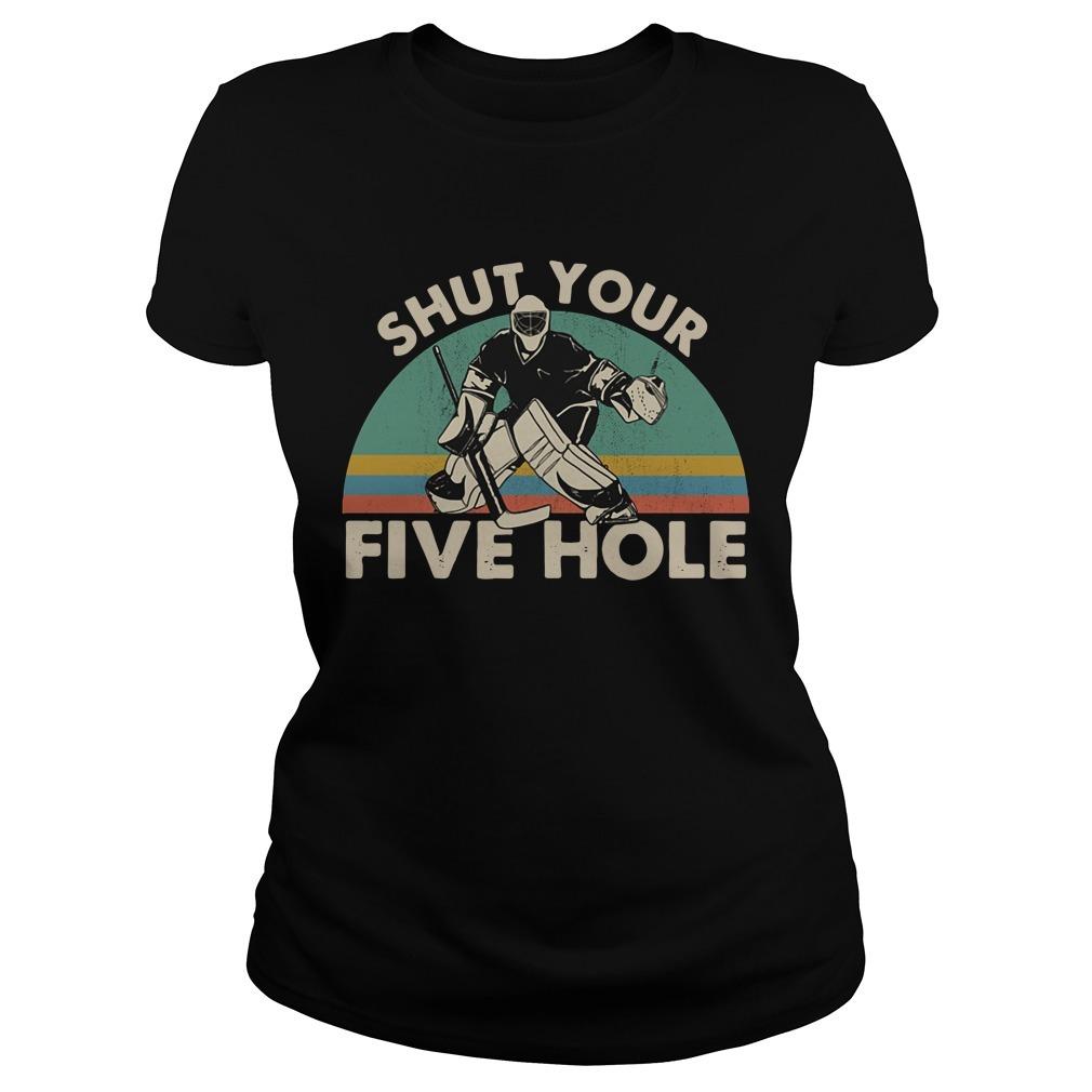 Hockey shut your five hole vintage Ladies Tee
