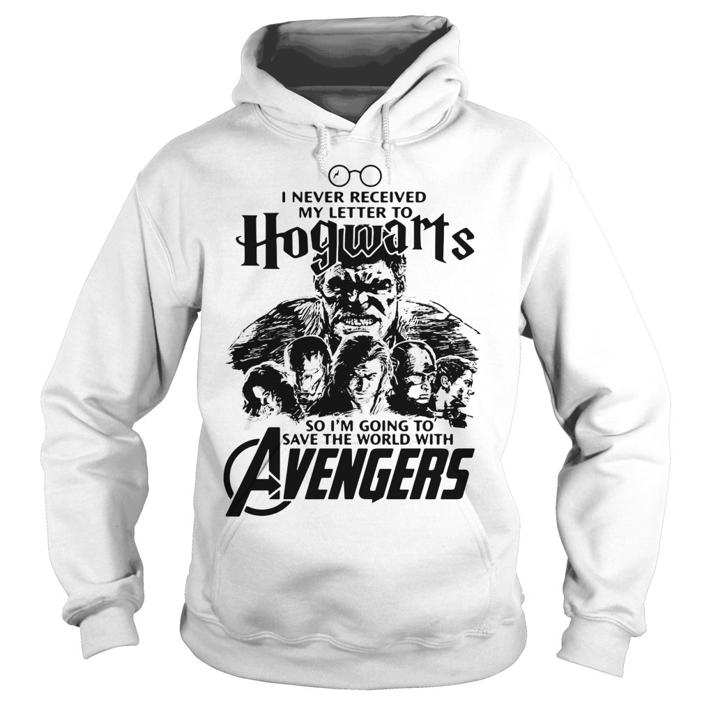 I never received my letter to Hogwarts so I'm going to save the world with Avengers Hoodie