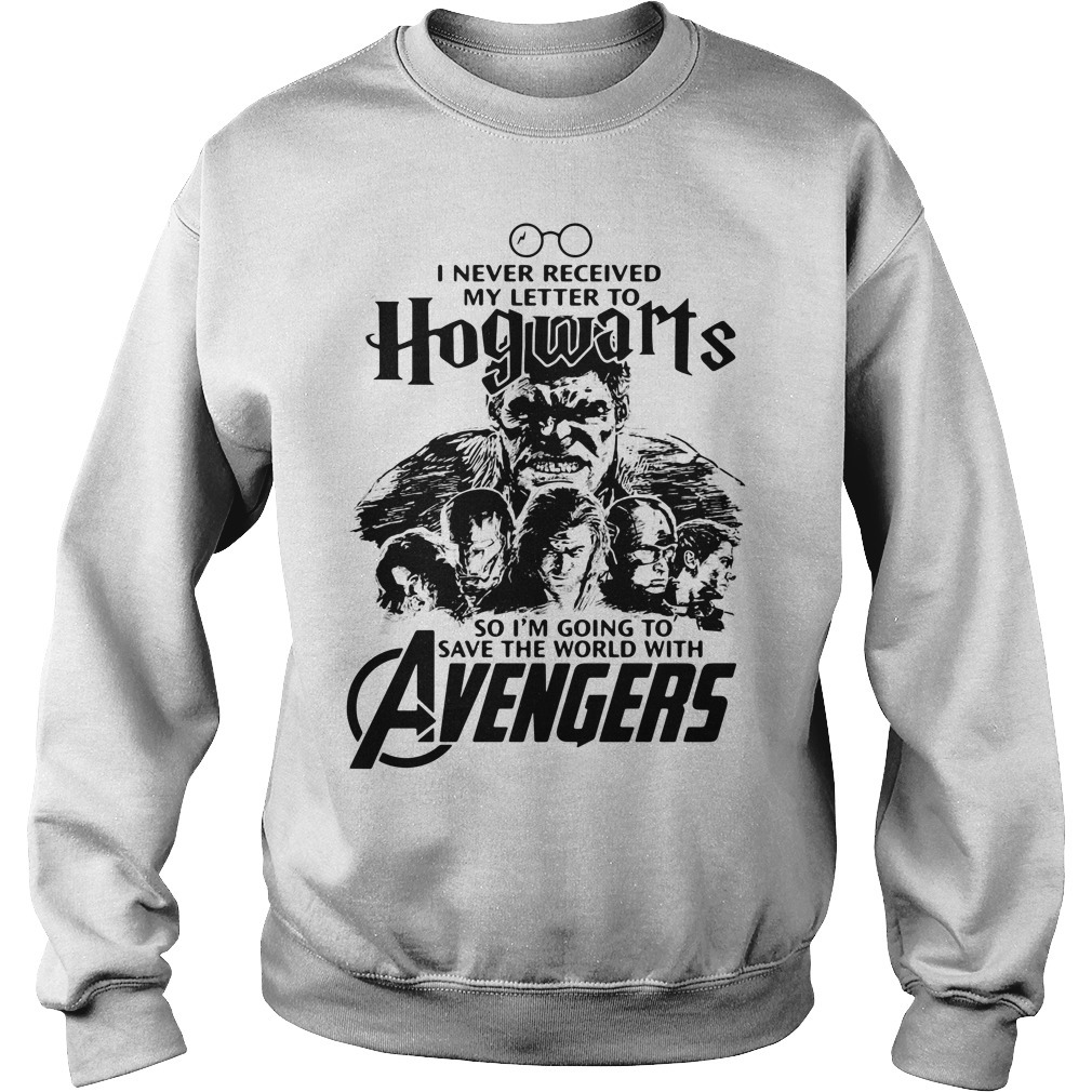 I never received my letter to Hogwarts so I'm going to save the world with Avengers Sweater