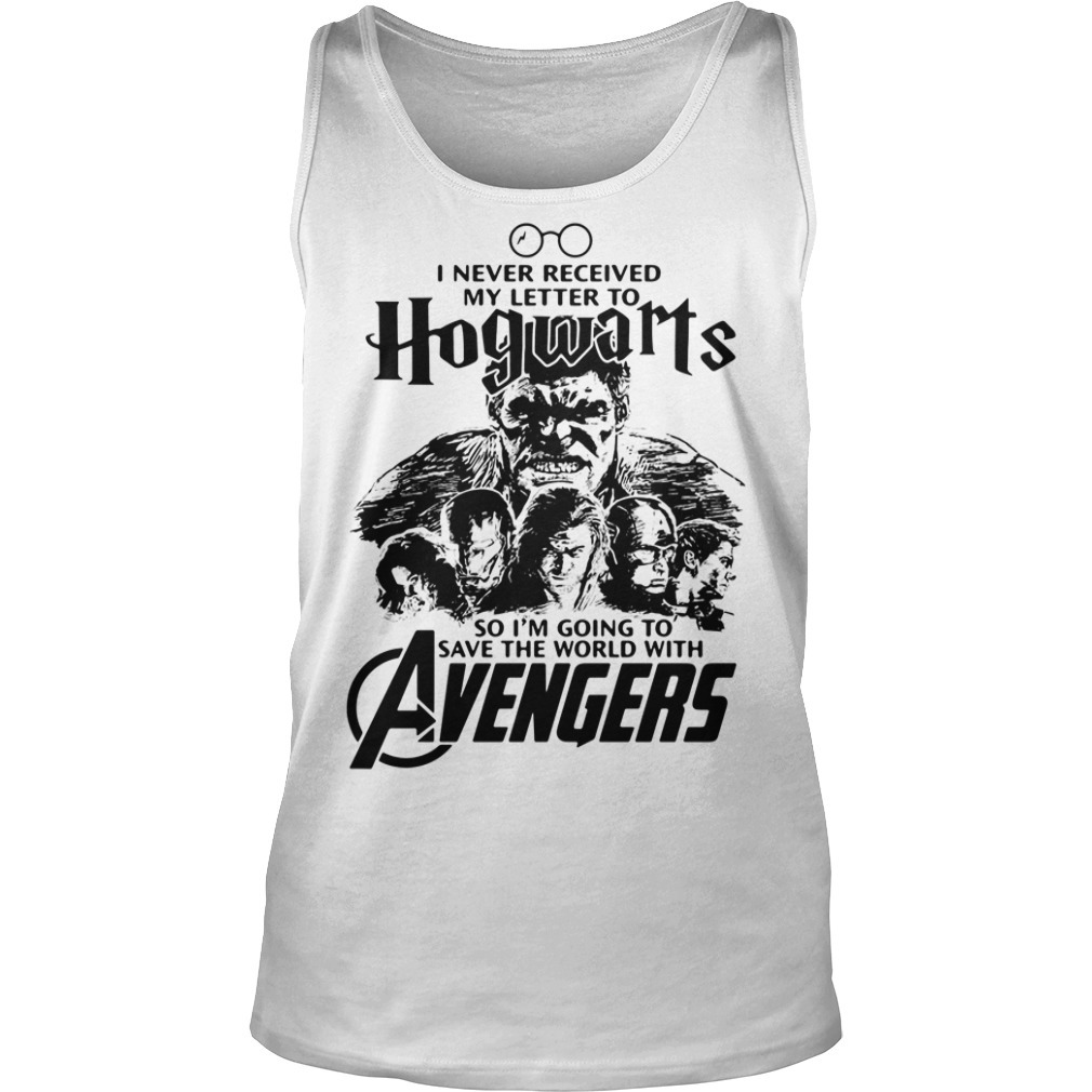 I never received my letter to Hogwarts so I'm going to save the world with Avengers Tank top