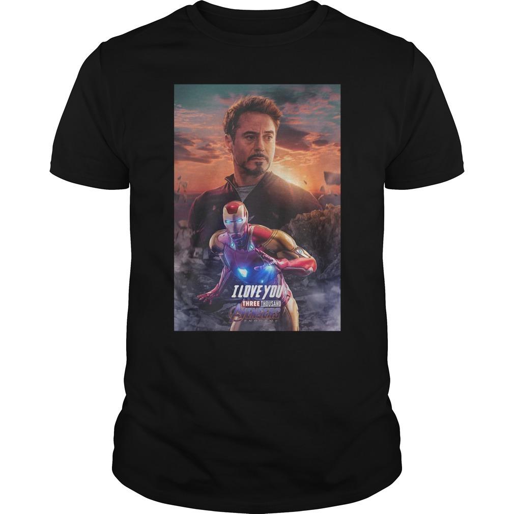 Iron man I love you three thousand Marvel Avengers endgame Guys shirt