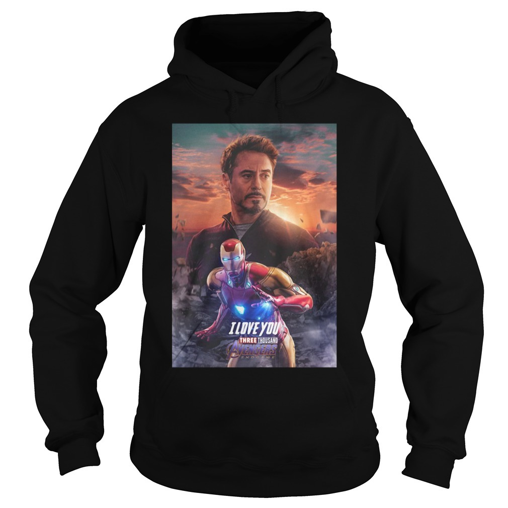 Iron man I love you three thousand Marvel Avengers endgame Hoodie