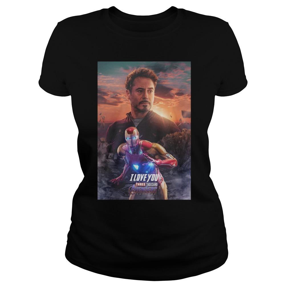 Iron man I love you three thousand Marvel Avengers endgame Ladies Tee