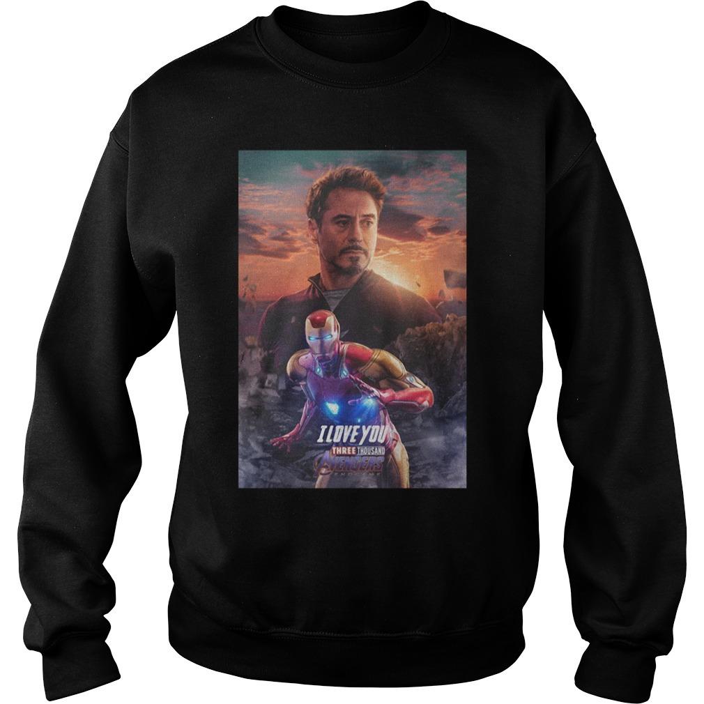 Iron man I love you three thousand Marvel Avengers endgame Sweater