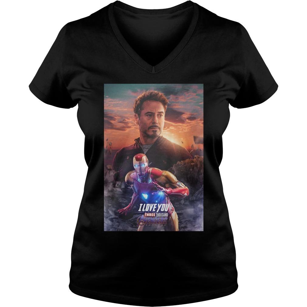 Iron man I love you three thousand Marvel Avengers endgame V-neck T-shirt