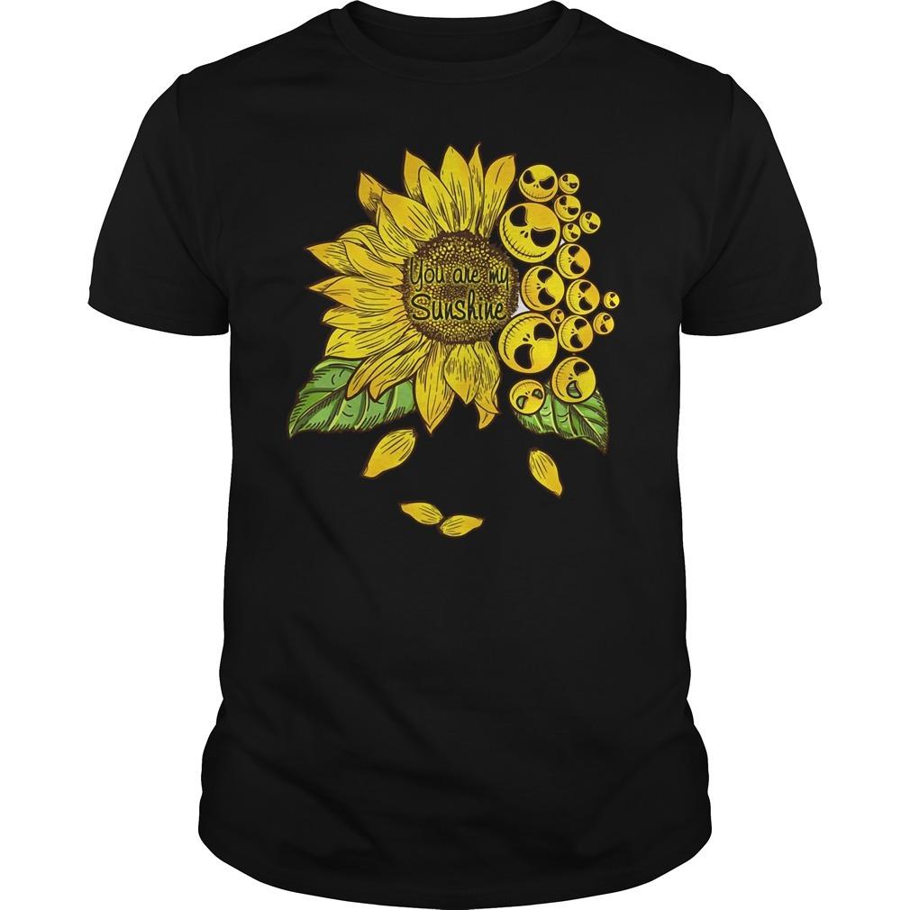 Jack Skellington sunflower you are my sunshine Guys shirt